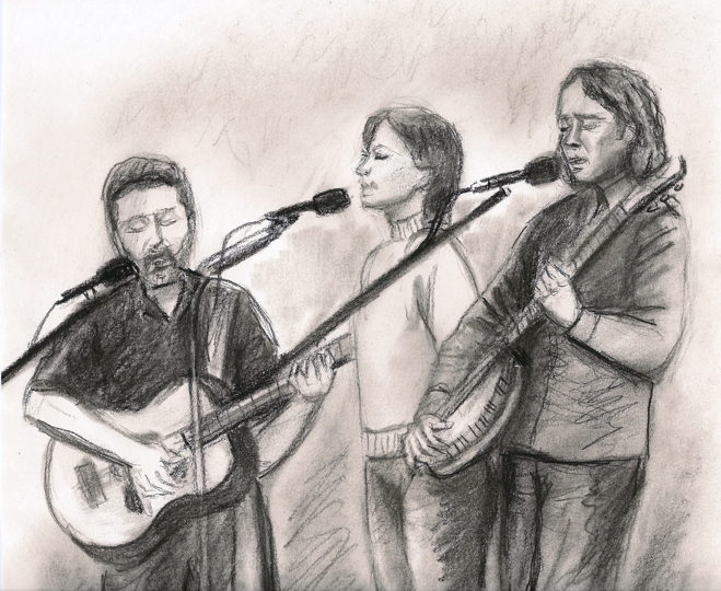 The Raven Coffeehouse - Drawing by Rob Parker